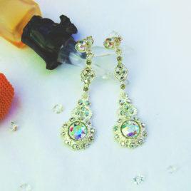 Exclusivos y preciosos pendientes plata y rodio creados con Crystales de Swarovski®